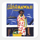 Hawaiana 1920 de Hawaii Pegatina Cuadradas Personalizadas