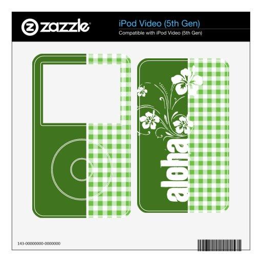 Hawaiana; A cuadros verde; Guinga Calcomanía Para El iPod Video