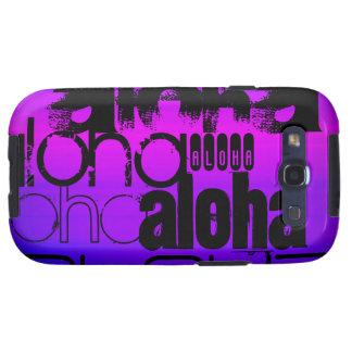 Hawaiana; Azul violeta y magenta vibrantes Samsung Galaxy SIII Funda