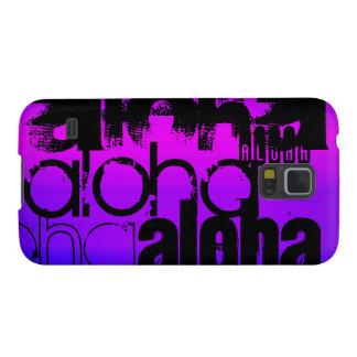 Hawaiana; Azul violeta y magenta vibrantes Carcasas Para Galaxy S5