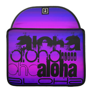 Hawaiana; Azul violeta y magenta vibrantes Funda Para Macbooks