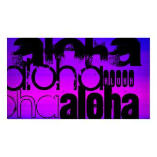 Hawaiana; Azul violeta y magenta vibrantes Tarjetas De Visita