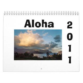 Hawaiana, calendario 2011 de Hawaii
