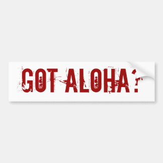 ¿Hawaiana conseguida? pegatina para el parachoques Etiqueta De Parachoque