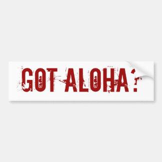¿Hawaiana conseguida? pegatina para el parachoques Pegatina Para Auto