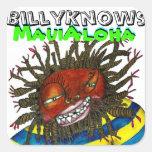 Hawaiana de BillyKnows Maui Pegatina Cuadrada
