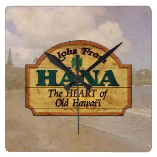 Hawaiana de Hana Reloj Cuadrado