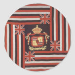 Hawaiana de Kuʻu Hae (mi bandera querida), algodón Pegatina Redonda