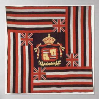 Hawaiana de Kuʻu Hae (mi bandera querida), algodón Póster