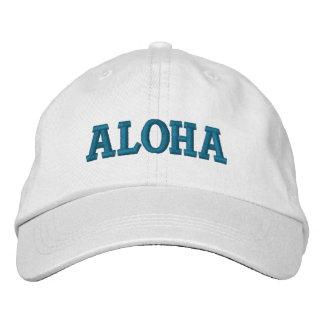 Hawaiana de la aguamarina gorras de beisbol bordadas