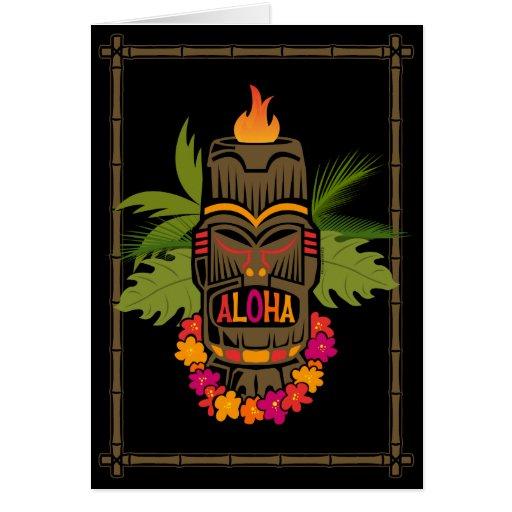 Hawaiana de Tiki Felicitación