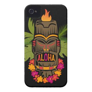 Hawaiana de Tiki iPhone 4 Cobertura