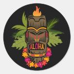 Hawaiana de Tiki Pegatina Redonda