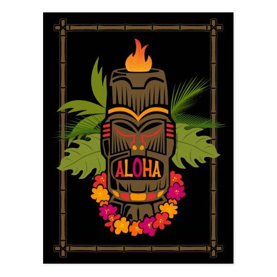 Hawaiana de Tiki Tarjetas Postales