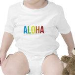 Hawaiana del arco iris traje de bebé