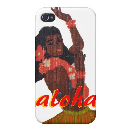 Hawaiana del bailarín de Hula iPhone 4/4S Carcasa