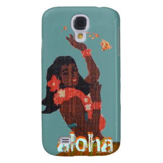 Hawaiana del bailarín de Hula por el mapa de la Funda Para Galaxy S4
