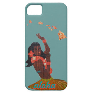 Hawaiana del bailarín de Hula por el mapa de la Funda Para iPhone 5 Barely There