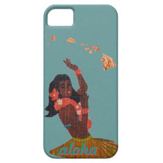 Hawaiana del bailarín de Hula por el mapa de la is iPhone 5 Protectores