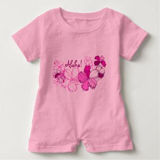 Hawaiana del Hawaiian del hibisco del Doodle Mameluco De Bebé