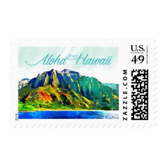 Hawaiana del sello postal de Hawaii