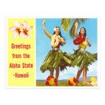 Hawaiana del vintage tarjetas postales