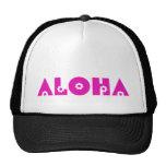 Hawaiana en flores rosadas gorras de camionero