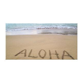 Hawaiana en la playa impresión en tela