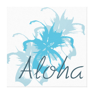 Hawaiana floral impresiones en lona
