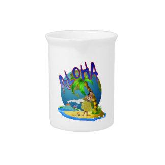 Hawaiana hawaiana jarra para bebida