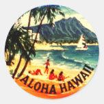 Hawaiana Hawaii Pegatina Redonda