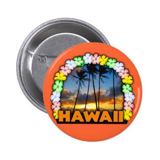Hawaiana Hawaii Pin Redondo De 2 Pulgadas