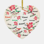 hawaiana, Kauai, Hawaii, Oahu, Maui, fondo del lan Ornamento Para Arbol De Navidad
