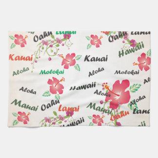 hawaiana, Kauai, Hawaii, Oahu, Maui, fondo del lan Toalla