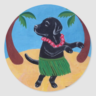 Hawaiana Labrador negro Etiqueta