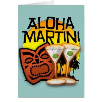 Hawaiana Martini Tarjeta De Felicitación