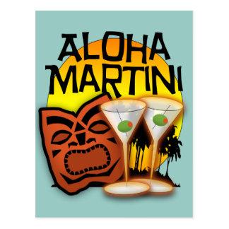Hawaiana Martini Tarjetas Postales