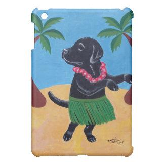 Hawaiana negra divertida de la pintura de Labrador