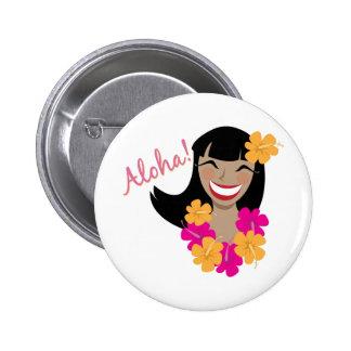 ¡Hawaiana! Pin Redondo 5 Cm