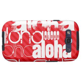 Hawaiana; Rayas del rojo del escarlata Galaxy S3 Cobertura