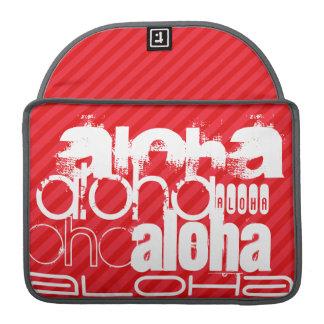 Hawaiana; Rayas del rojo del escarlata Fundas Macbook Pro