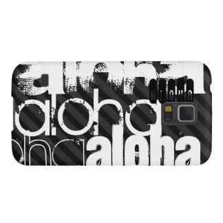 Hawaiana; Rayas negras y gris oscuro Fundas Para Galaxy S5