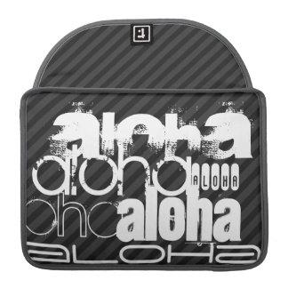 Hawaiana; Rayas negras y gris oscuro Fundas Para Macbooks