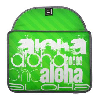Hawaiana; Rayas verdes de neón Fundas Para Macbook Pro
