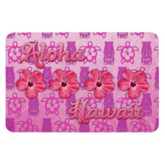 Hawaiana rosada Hawaii Iman De Vinilo