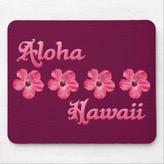 Hawaiana rosada Hawaii Alfombrillas De Ratón