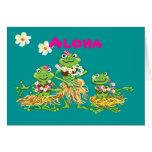 Hawaiana - tarjeta de cumpleaños