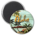 Hawaiana tropical imán redondo 5 cm