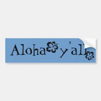 Hawaiana usted pegatina de parachoque