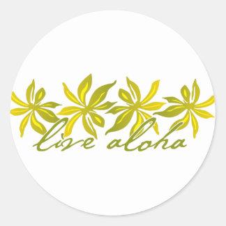 Hawaiana viva pegatina redonda